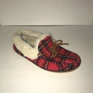 J.Crew Plaid Lined Slippers